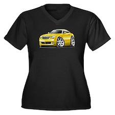 Crossfire Yellow Car Women's Plus Size V-Neck Dark
