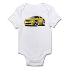 Crossfire Yellow Car Infant Bodysuit