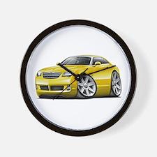 Crossfire Yellow Car Wall Clock