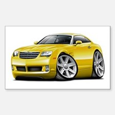 Crossfire Yellow Car Decal