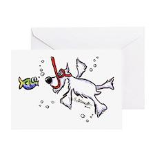 Snorkel Schnauzer Greeting Card