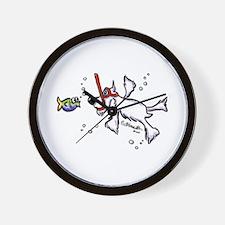 Snorkel Schnauzer Wall Clock