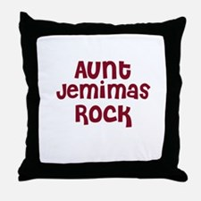 Aunt Jemimas Rock Throw Pillow