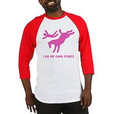 Pink Bucking Horse 'Stunts' Baseball Jersey