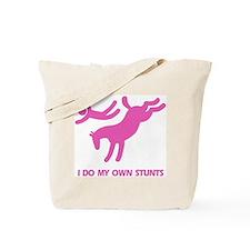 Pink Bucking Horse 'Stunts' Tote Bag