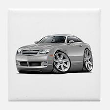 Crossfire Silver Car Tile Coaster