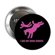 Pink Bucking Horse 'Stunts' Button