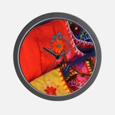Mexican Blouses Wall Clock