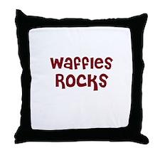 Waffles Rocks Throw Pillow