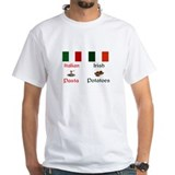 Irish potato Mens White T-shirts