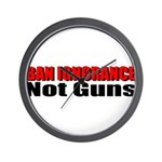 Ban Ignorance Wall Clock