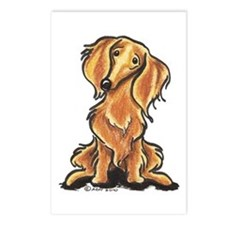 Longhair Dachshund Lover Postcards (Package of 8)