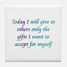 Give The Gifts Tile Coaster