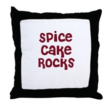 Spice Cake  Rocks Throw Pillow