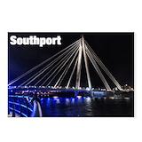 Southport bridge night Postcards