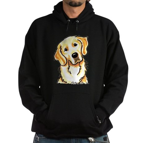 Golden Retriever Portrait Hoodie (dark)