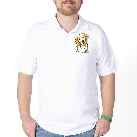 Golden Retriever Portrait Golf Shirt