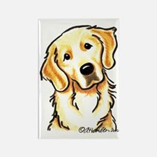 Golden Retriever Portrait Rectangle Magnet (10 pac