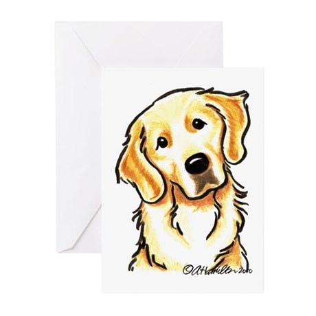 Golden Retriever Portrait Greeting Cards (Pk of 10