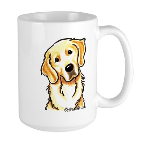 Golden Retriever Portrait Large Mug