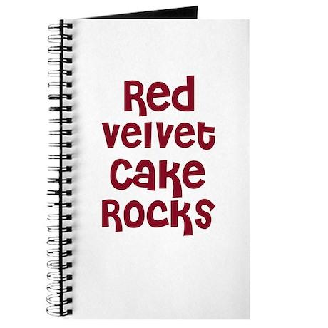 Red Velvet Cake Rocks Journal