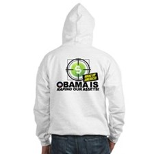 (w/BACK) Obama-is-RAPING-Our-A$$ETS Hoodie