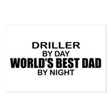 World's Best Dad - Driller Postcards (Package of 8