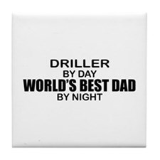 World's Best Dad - Driller Tile Coaster