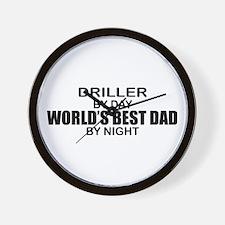 World's Best Dad - Driller Wall Clock