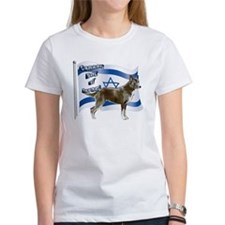 Brown Canaan dog and flag Tee