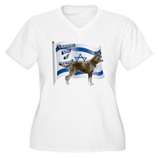 Brown Canaan dog and flag T-Shirt