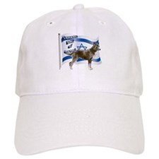 Brown Canaan dog and flag Baseball Cap