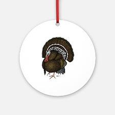 Turkey Standard Bronze Tom Ornament (Round)