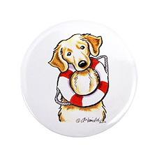 """Golden Retriever Lover Rescue 3.5"""" Button"""