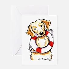Golden Retriever Lover Rescue Greeting Card