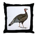 Turkey Standard Bronze Hen Throw Pillow