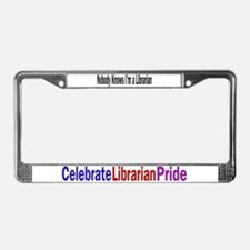 Nobody/Celebrates Librarians License Plate Frame