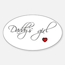DADDY'S GIRL Oval Decal