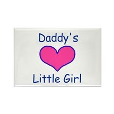 DADDYS LITTLE GIRL Rectangle Magnet (100 pack)