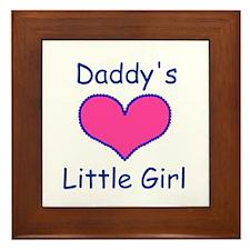 DADDYS LITTLE  GIRL Framed Tile