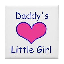 DADDYS LITTLE  GIRL Tile Coaster