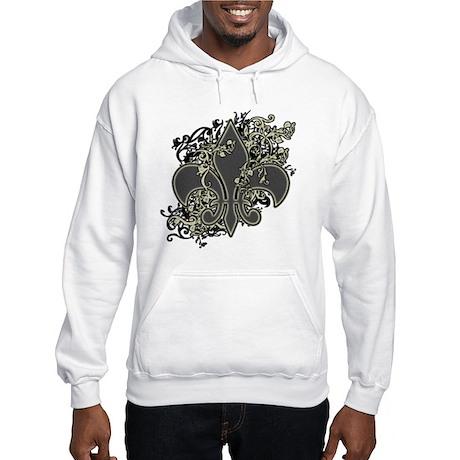 Fleur De Lis (Baroque) Hooded Sweatshirt