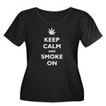 Keep Calm and Smoke On Women's Plus Size Scoop Nec