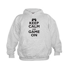 Keep Calm and Game On (parody Hoody