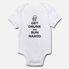 Get Drunk and Run Naked (paro Infant Bodysuit