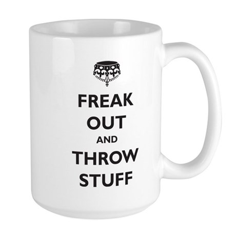 Freak Out and Throw Stuff (pa Large Mug