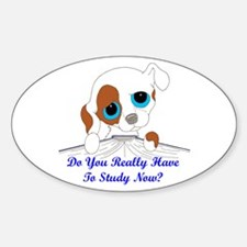 Do You Really Have To Study N Sticker (Oval)