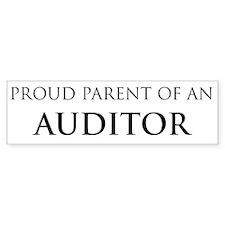 Proud Parent: Auditor Bumper Car Sticker