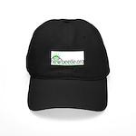 Black Baseball Cap (Green Logo)