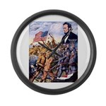 True Sons of Freedom Large Wall Clock